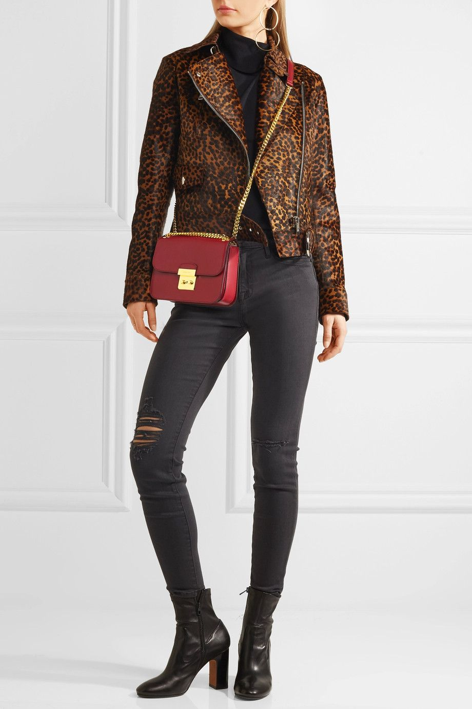 9a4d99e951f4 MICHAEL Michael Kors | Sloan Editor leather shoulder bag | NET-A-PORTER.COM