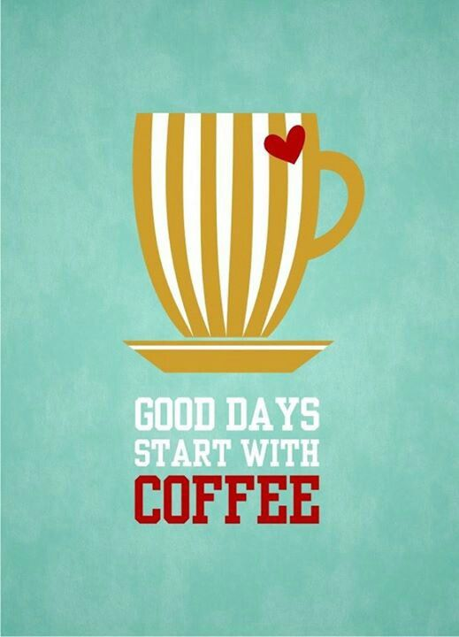 Good Days Start With Coffee Blue 8x10 Instant Download