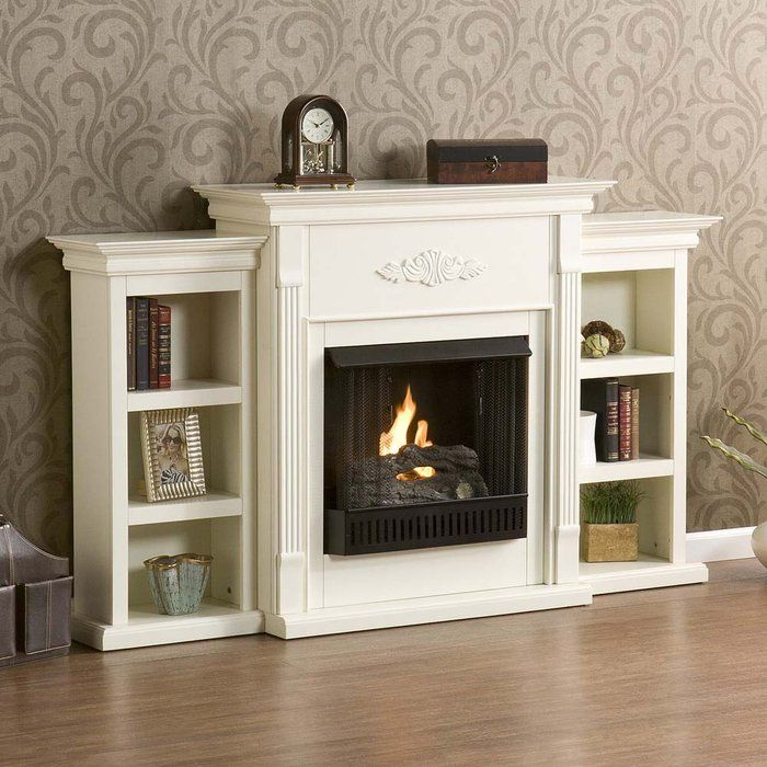 Holly Martin Fredricksburg Gel Fireplace W Bookcases Ivory If You Are Looking For An Elegant Accessory Your Home This Is The Piece