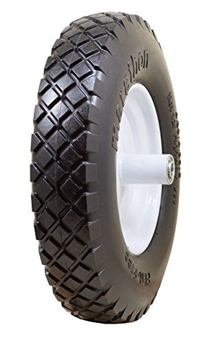 Marathon Industries 00047 4 80 4 00 8 Flat Free Wheelbarrow Tire With Knobby Tread 6 Centered Hub 5 8 Ball Bearing Wheelbarrow Tires Wheelbarrow Free Tire