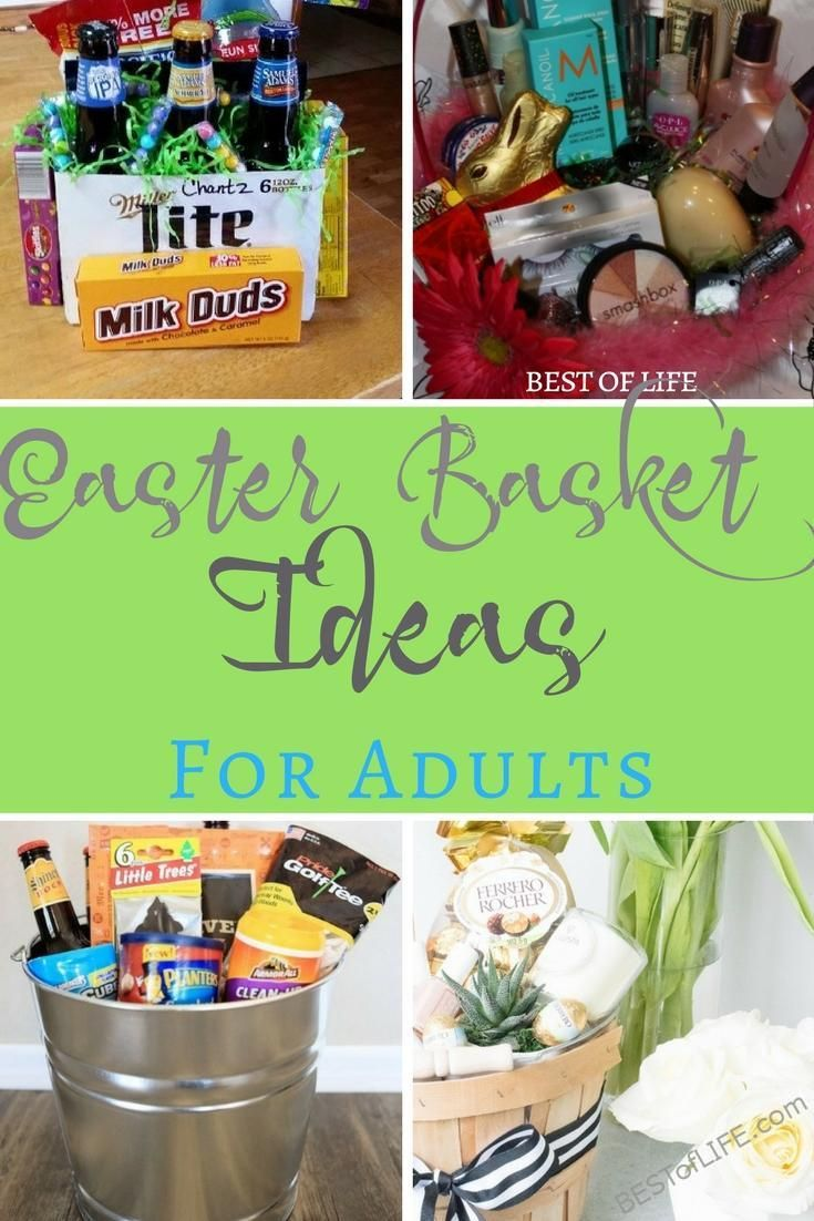 Easter basket ideas for adults basket ideas cheap easter adults want baskets too so help the easter bunny come up with some impressive easter easter basket ideaseaster negle Image collections