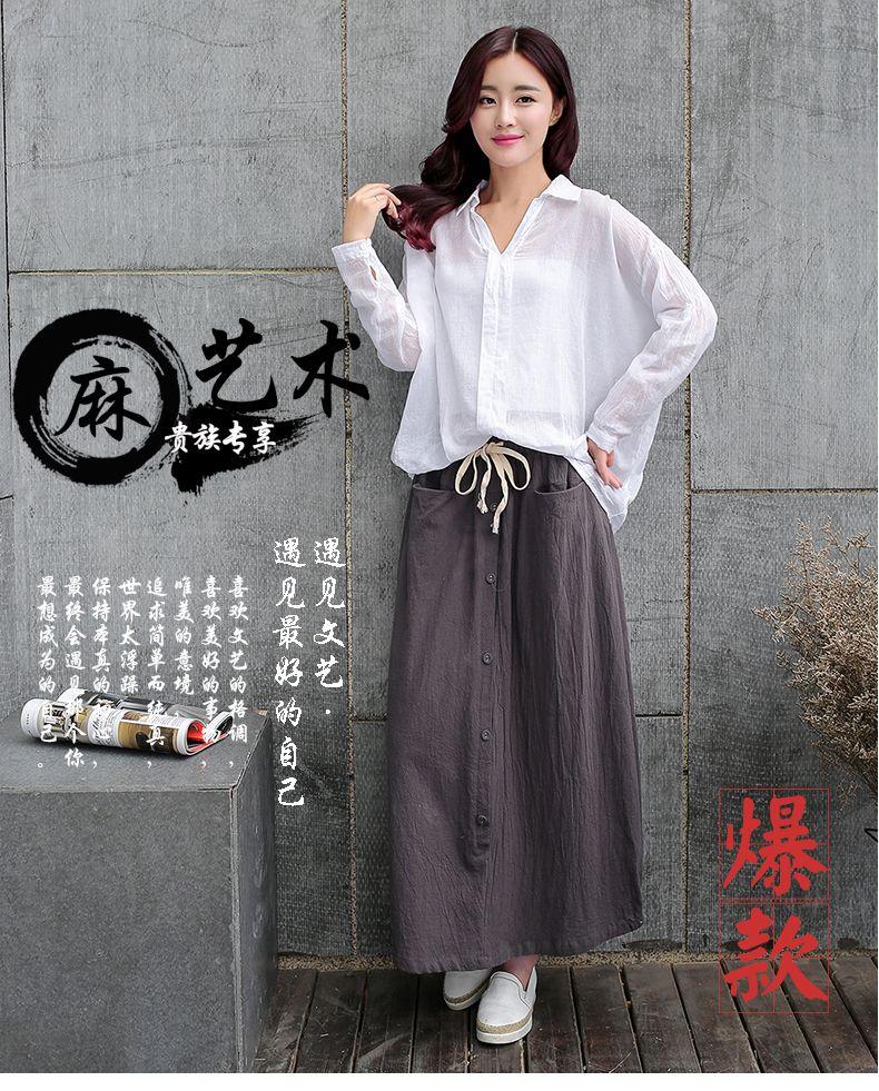 Cotton suit dress suit skirt female  Hitz Slim small fresh art retro dress