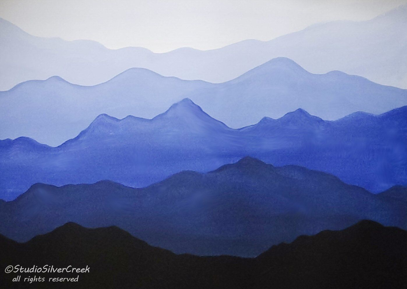 Easy Acrylic Painting - Misty Mountains. Video Available ...
