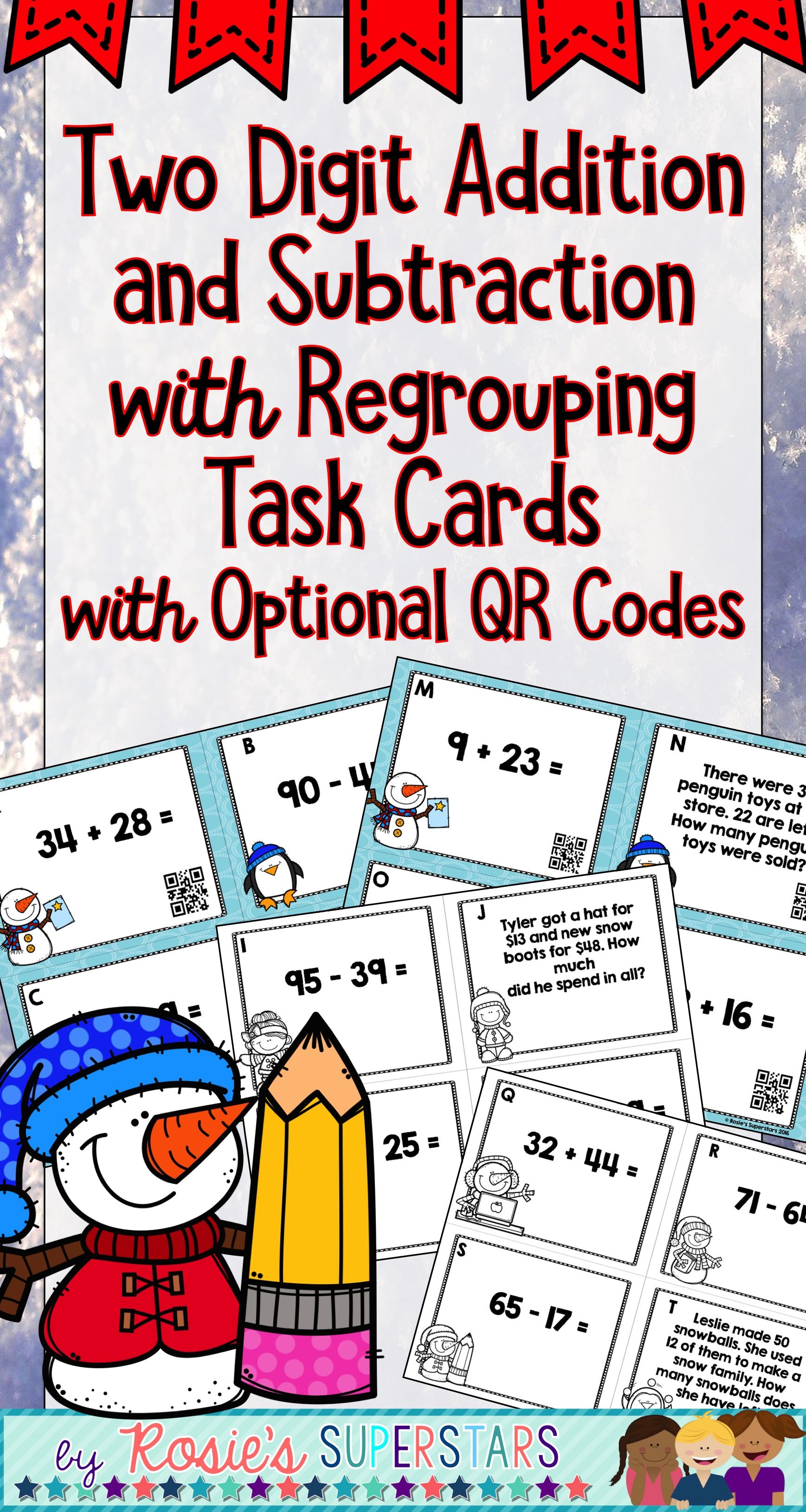 Two Digit Addition And Subtraction With Regrouping Task