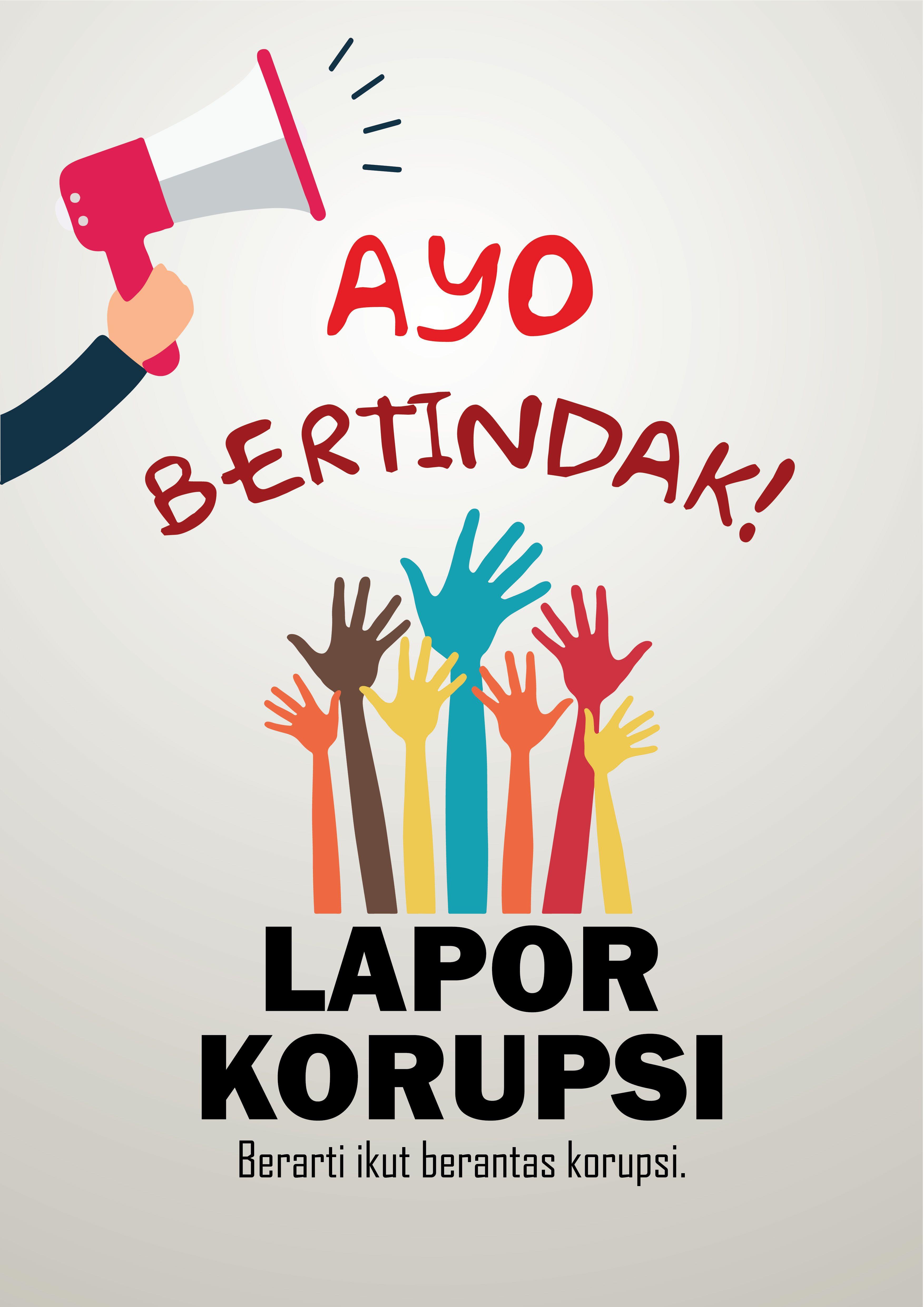 Poster Anti Korupsi Desain Poster Kartun