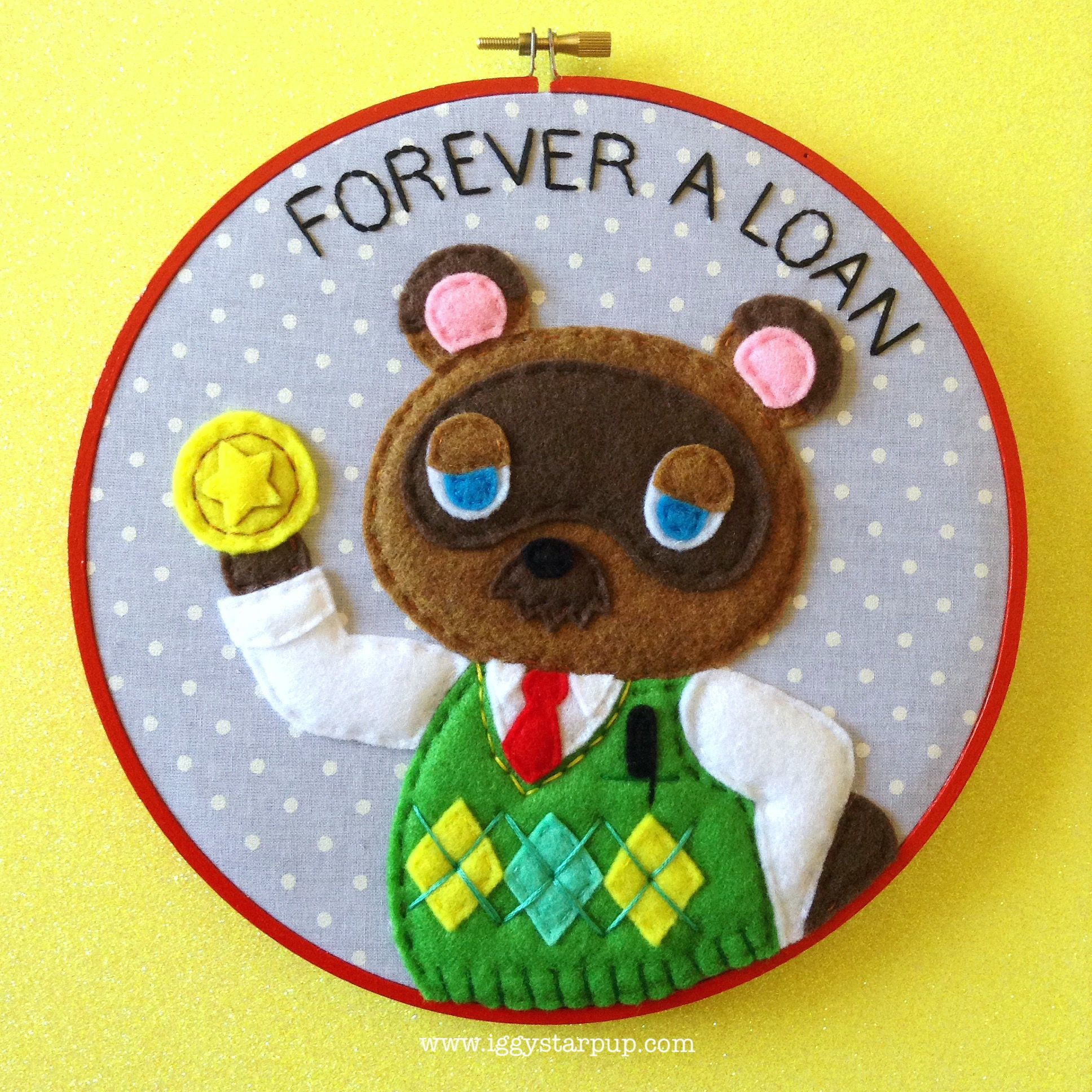 Animal crossing tom nook embroidery 2017 sold animal