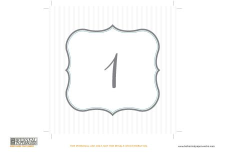 free printables} Table Numbers Perfect For Your Wedding   Table ...