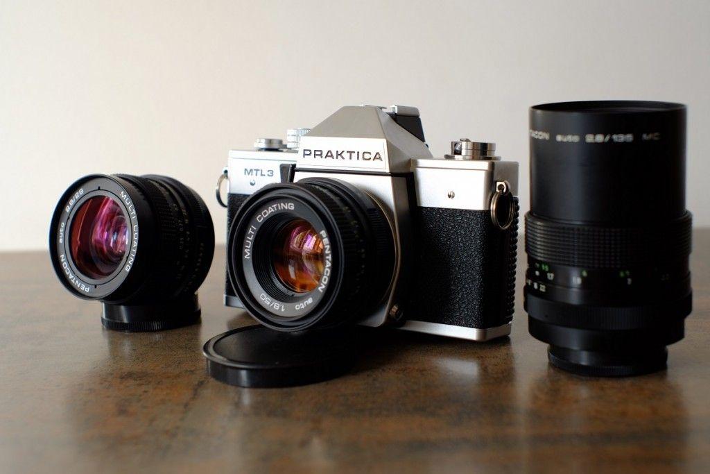 Vintage lenses prices value praktica mtl pentacon kit