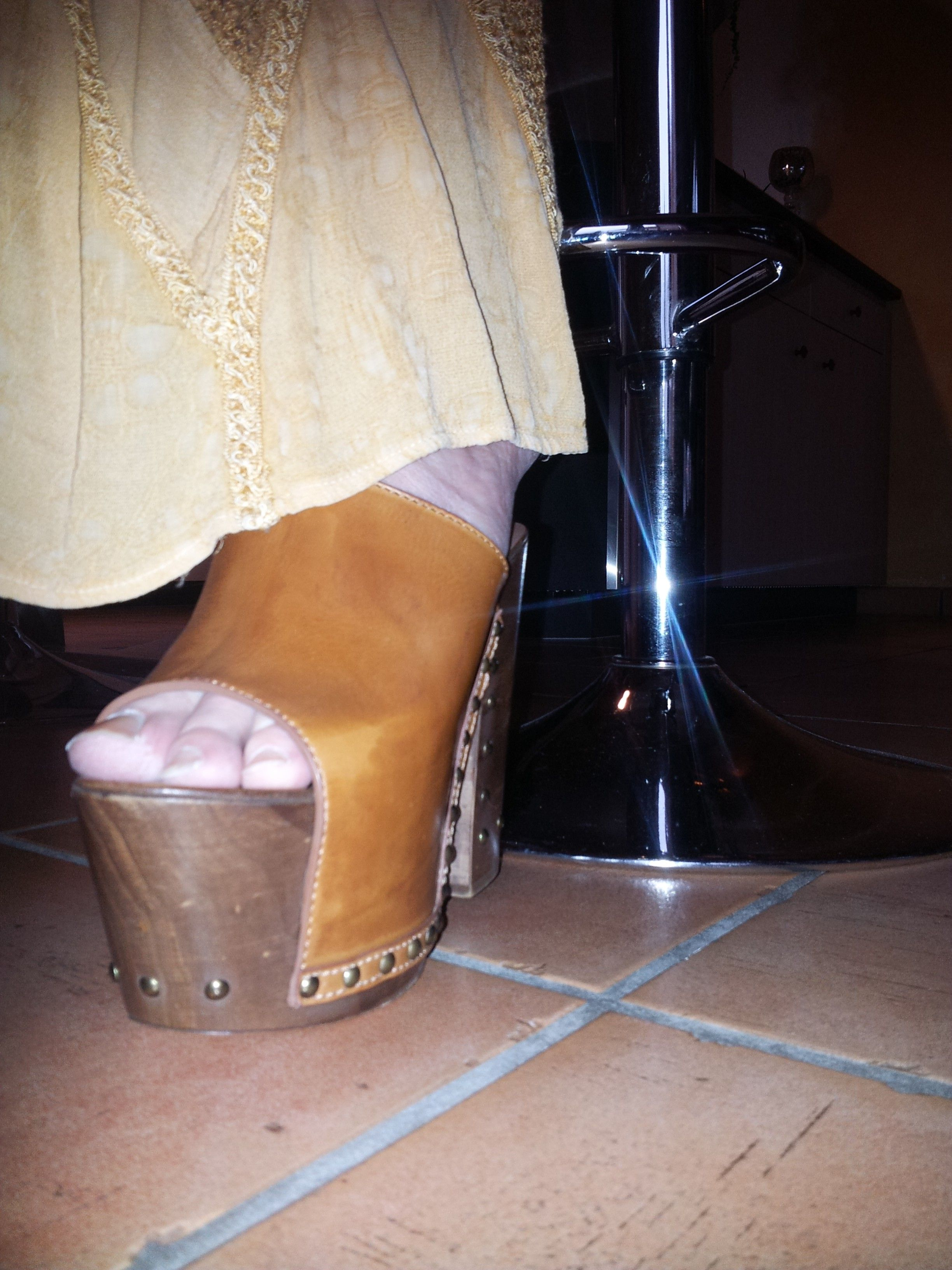 Mules Pin Heel On Wooden By Wedges And HeelsShoesHeeled 35Ljc4RAq