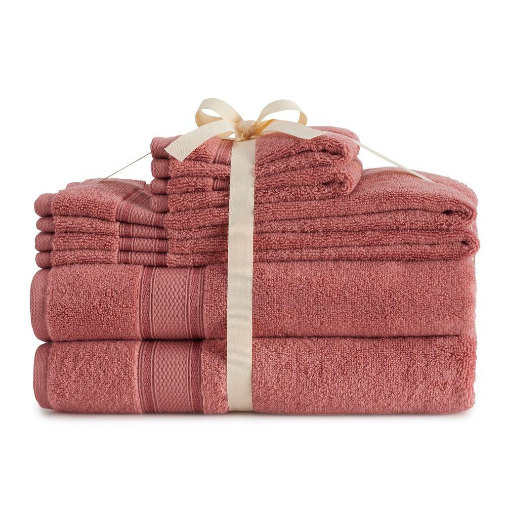 Croft Barrow The Extra Soft 6 Piece Bath Towel Set Dark Red 6