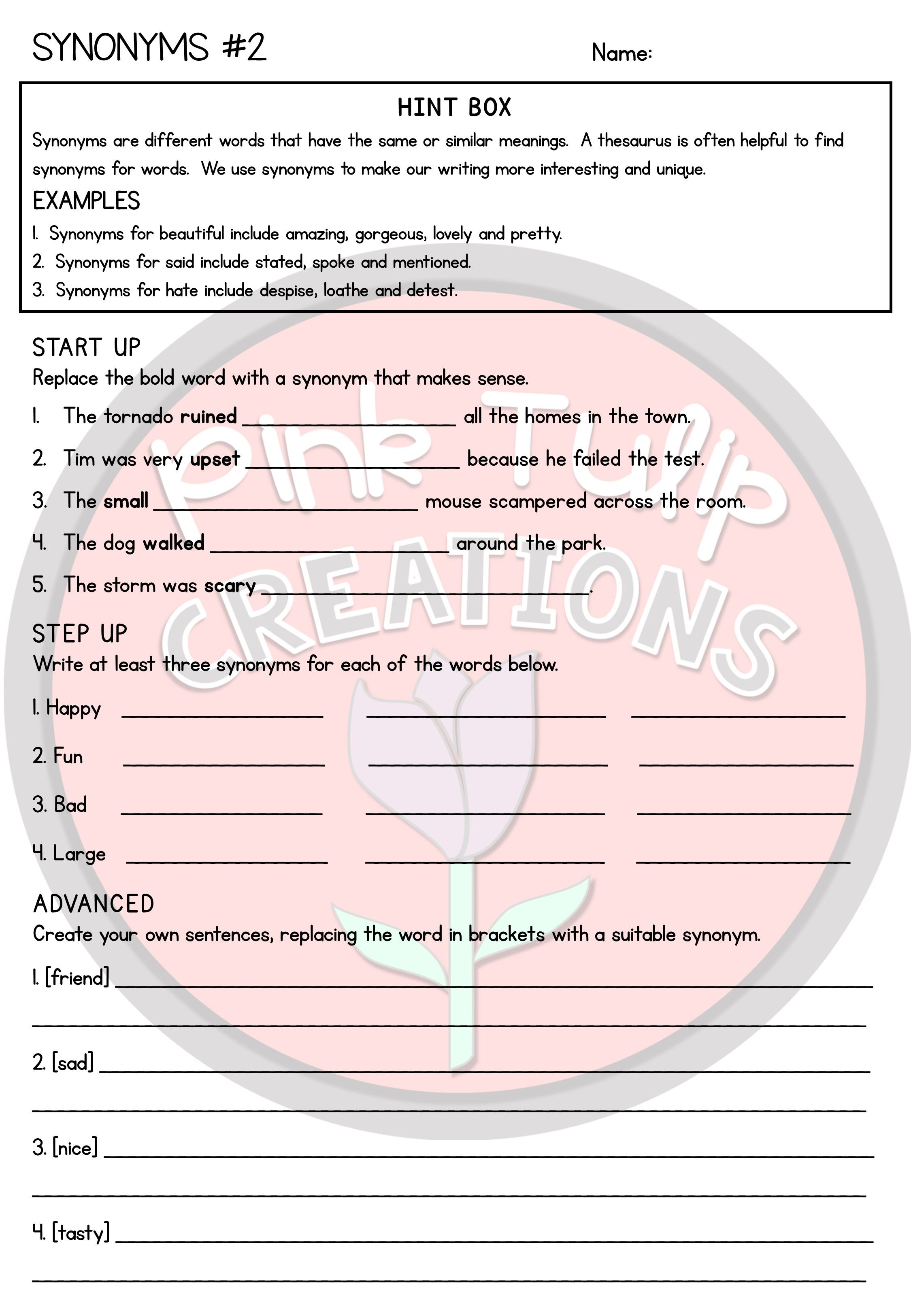 Grammar Worksheet Pack