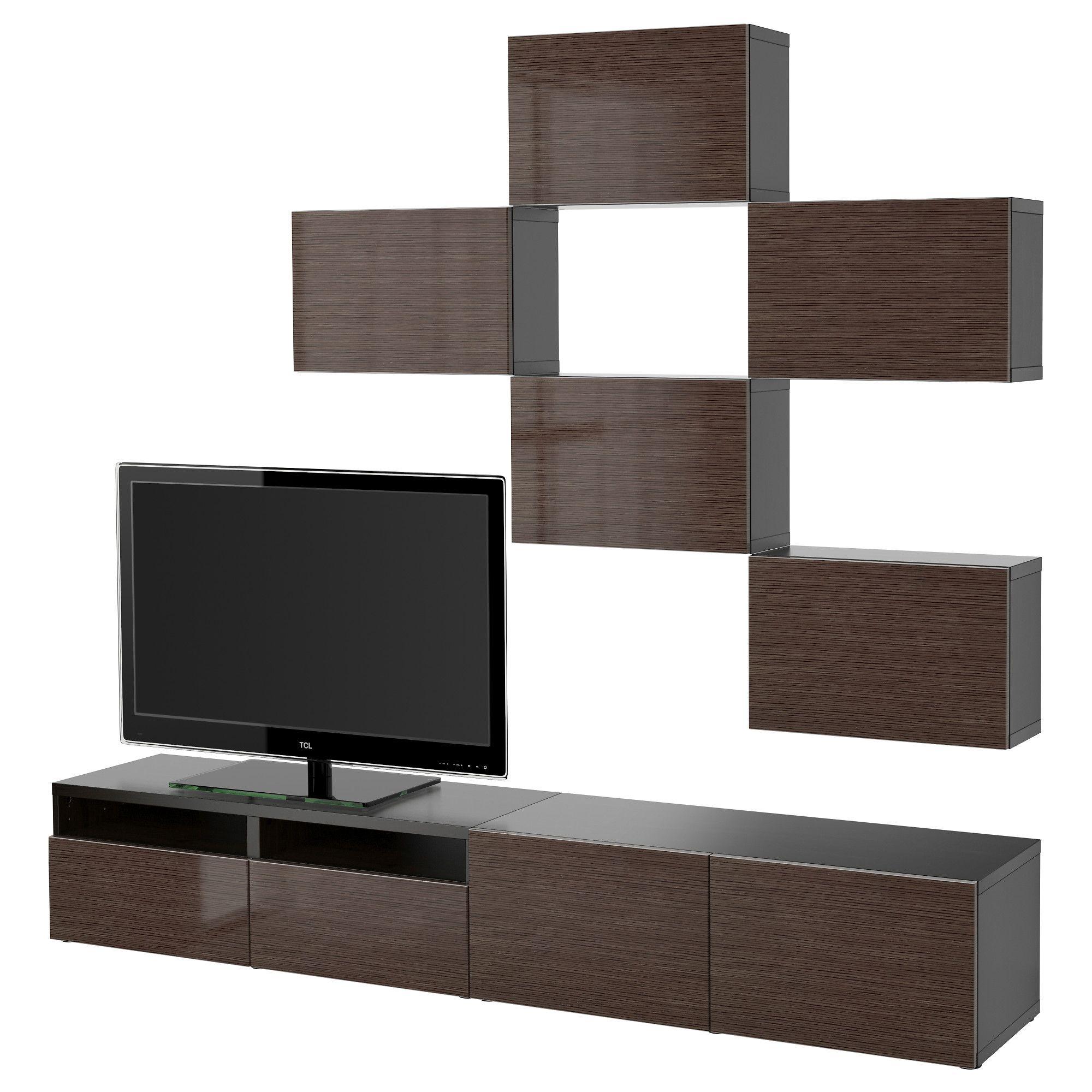 BESTÅ, TV-Möbel, Kombination, schwarzbraun, Jetzt bestellen unter ...