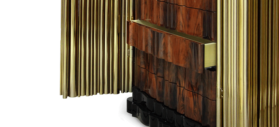 Symphony Polished Brass Pipes Schrank By Boca Do Lobo Luxus Design Einrichtung