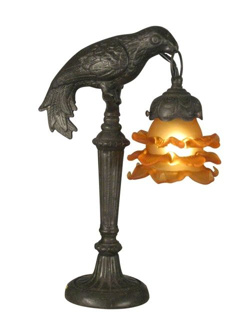 Crow Lamp Art Deco Lamps Steampunk Decor