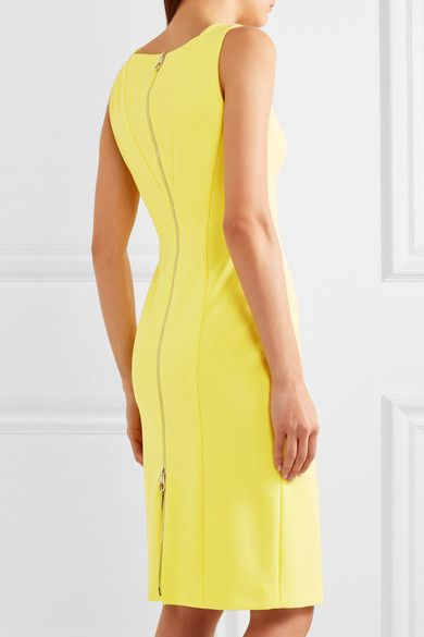 Bright-yellow stretch-crepe Two-way zip fastening through back 78% viscose, 16% polyamide, 6% elastane; lining: 100% viscose Dry clean Made in Italy