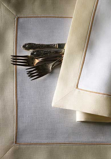 custom embroidered table linens by léron view the collection of