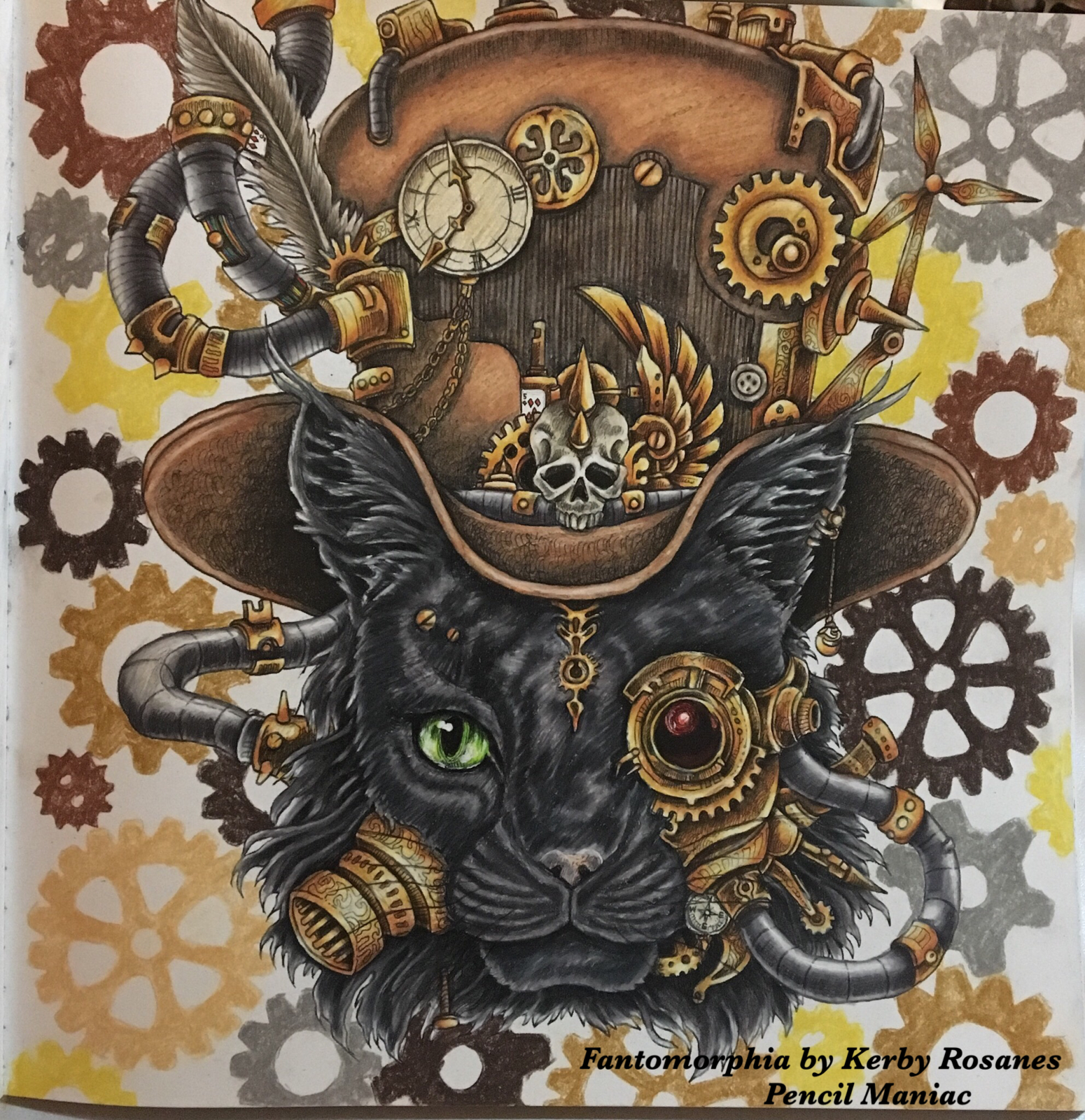 Kerby Rosanes Steampunk Coloring Book Coloring Book Art Steampunk Coloring