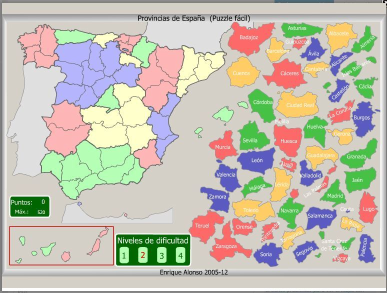 Puzzle Interactivo Fácil Provincias De España Comunidades De Aprendizaje Comunidades Autonomas De Espana Enseñanza De La Geografía