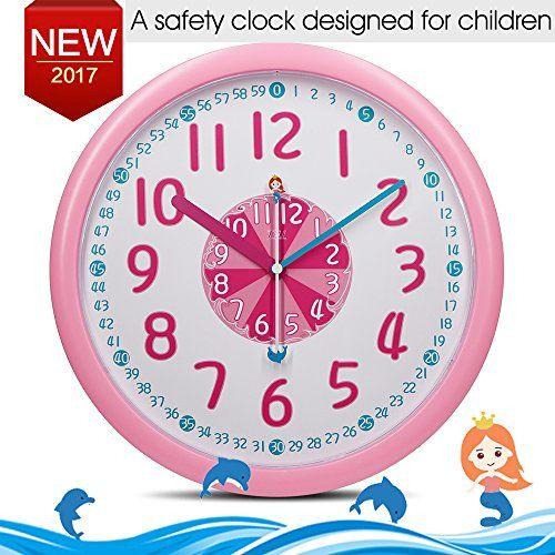 Kid Wall Clock Baby Nursery Wall Clock In Kid S Room Cloc Https Www Amazon Com Dp B06vsqzmbq Ref Cm Sw R Pi Dp X Nts5zbcd Kids Wall Clock Wall Clock Clock