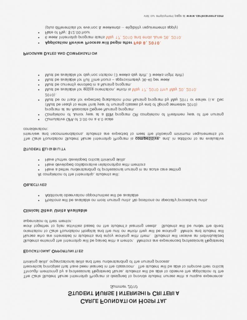 New grad registered nurse resume sample lovely new