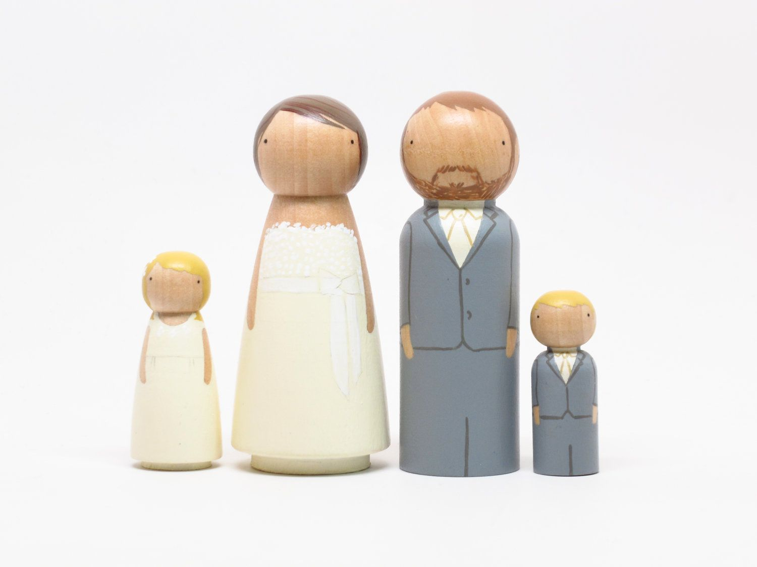 Personalized wedding cake toppers bridegroom wedding decor with two