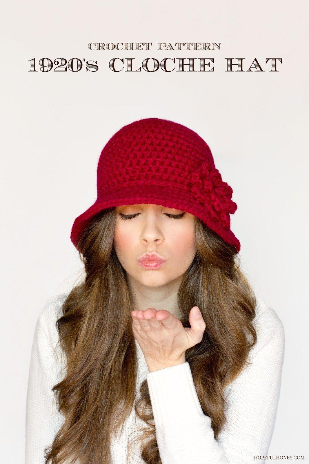 Crochet Cloche Hats The Best Free Collection | Häkelmuster, Häkeln ...