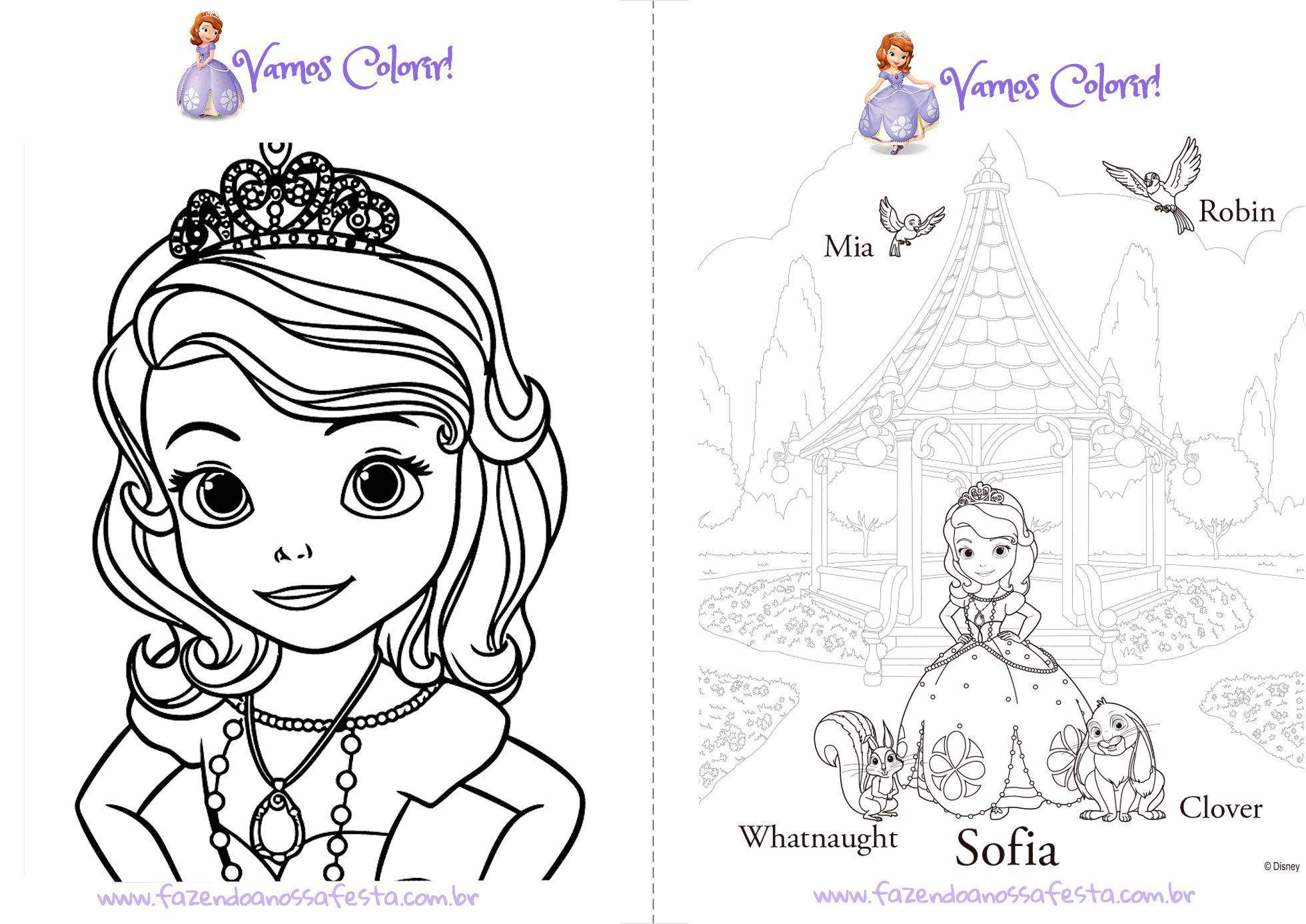 Livrinho Para Colorir Princesa Sofia Pagina 1 Princesa Sofia