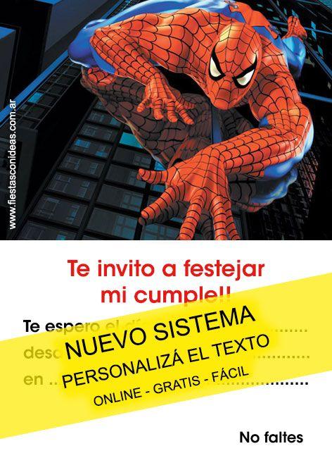 tarjeta de cumpleaos de spiderman para imprimir tarjeta del hombre araa para editar e imprimir