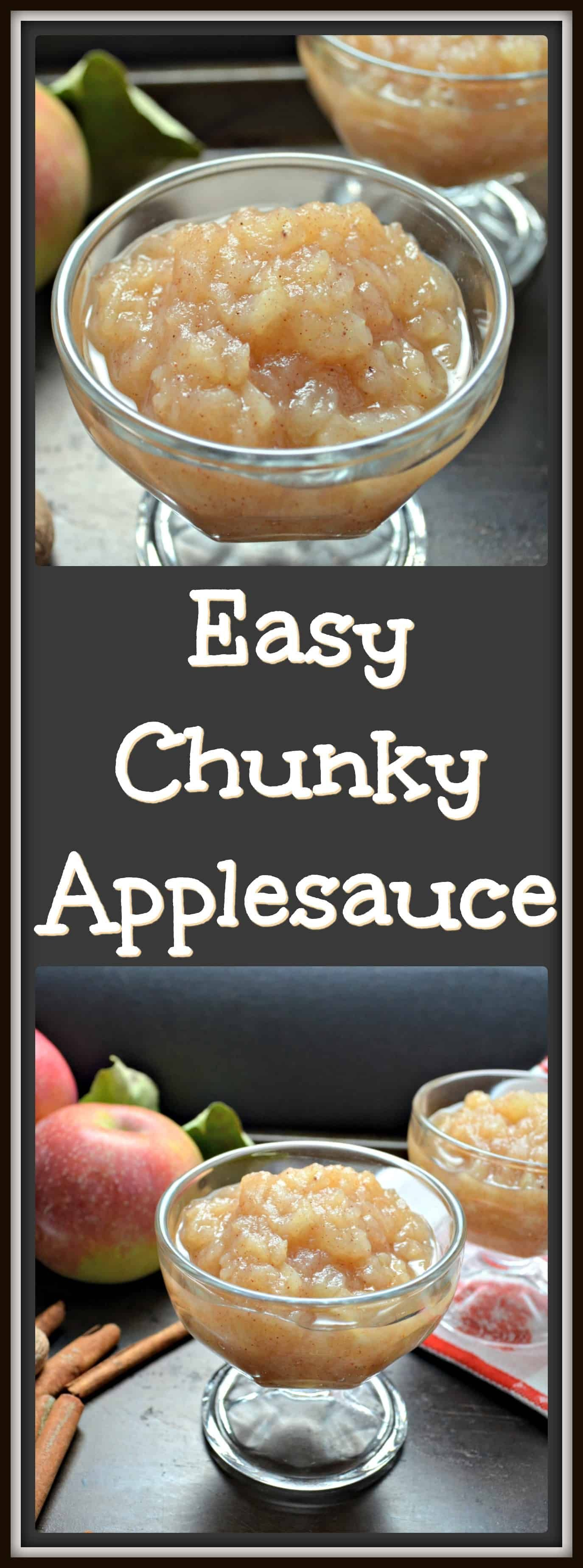 Easy Homemade Chunky Applesauce with no added sugar!