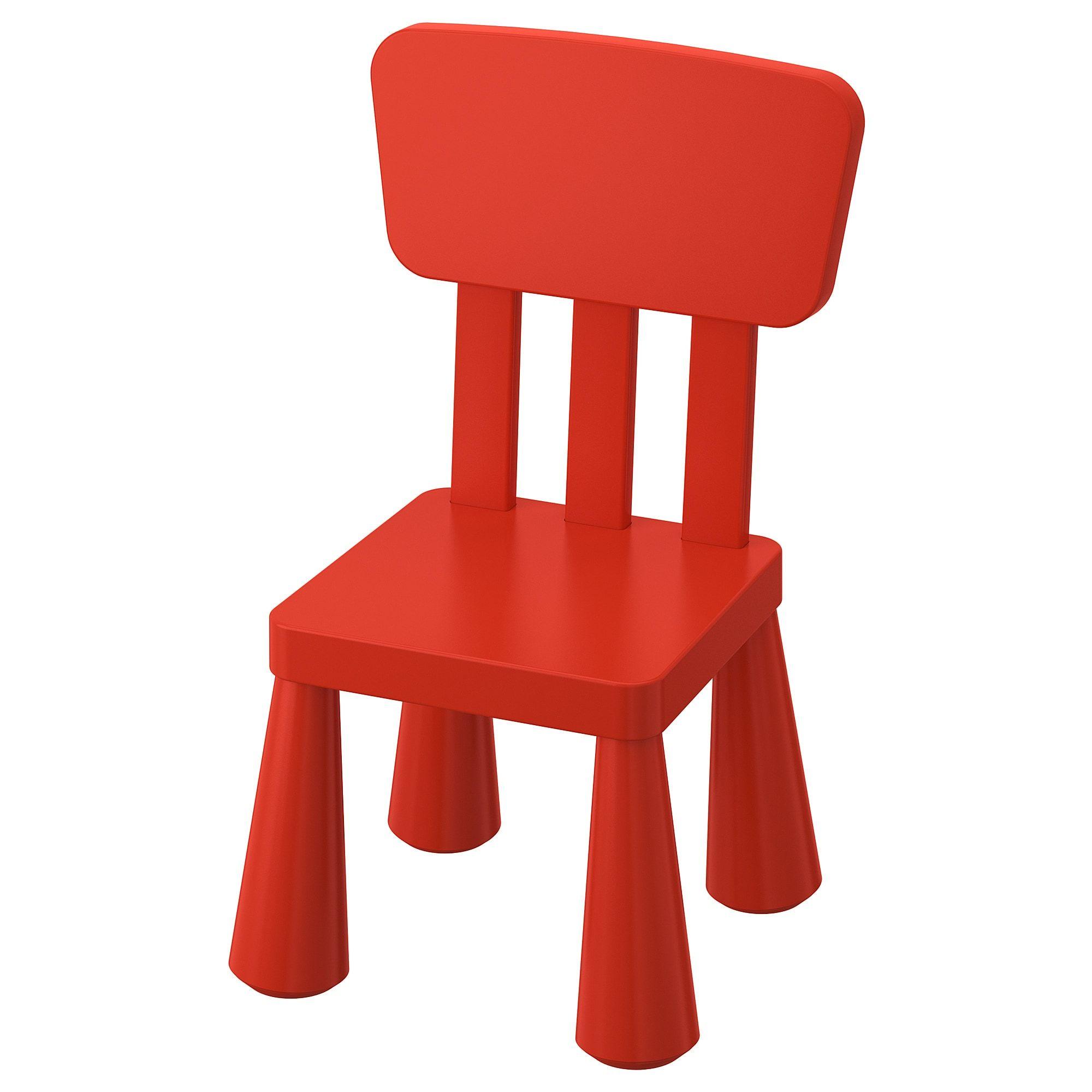 Ikea Mammut Indoor Outdoor Red Children S Chair In 2020 Ikea