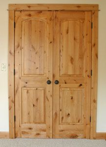Knotty Alder Pantry Door Images Crafted Baseboard And Casing Trim Compliment The Doors