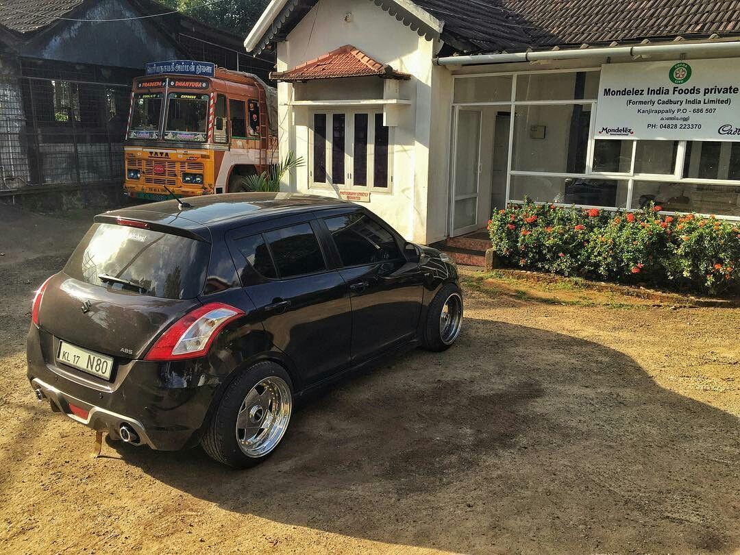 Black Modified Maruti Swift Cars Lover Suzuki Swift
