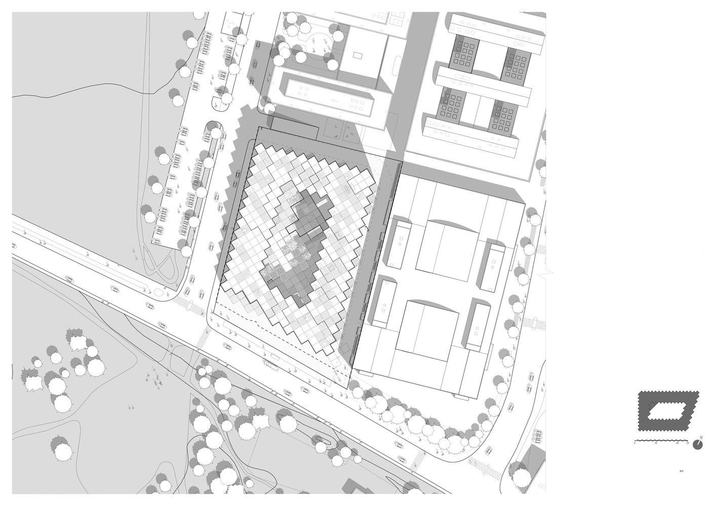 Gallery Of 79 Park Big 26 Site Plan Site Plans Park