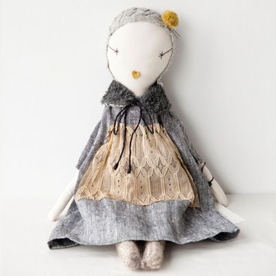Lili et Nene | Rakuten Global Market: * jess brown (Jess Brown) JESS BROWN-RAG DOLL (grey linen dress) (10)