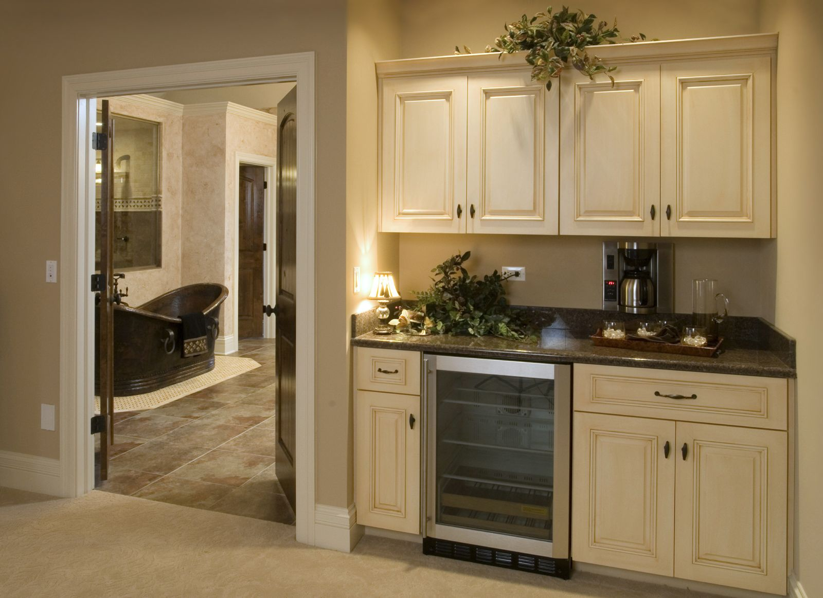 Morning kitchen in the Master | Built in coffee maker ...