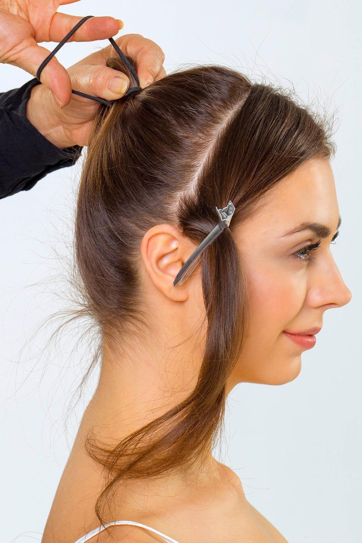 Audrey Hepburn Frisur Style 2 Anleitung 1 Haare Abteilen Und