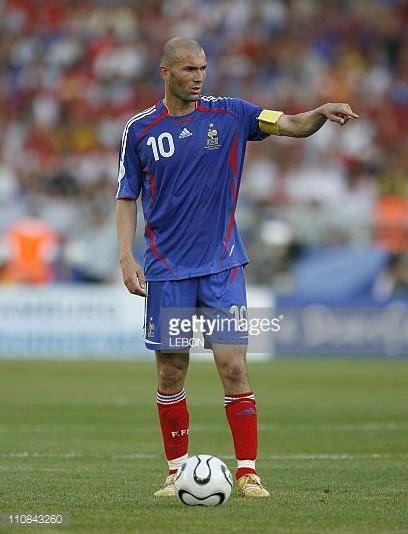 Zinedine Zidane 2006 Or adidas PRougeator Absolute Players wearing