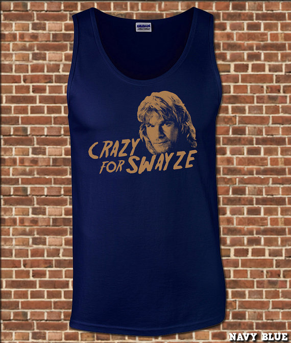eb90fed7d1a4c CRAZY For SWAYZE mens Tank Top all sizes available funny patrick roadhouse  dirty dancing point break