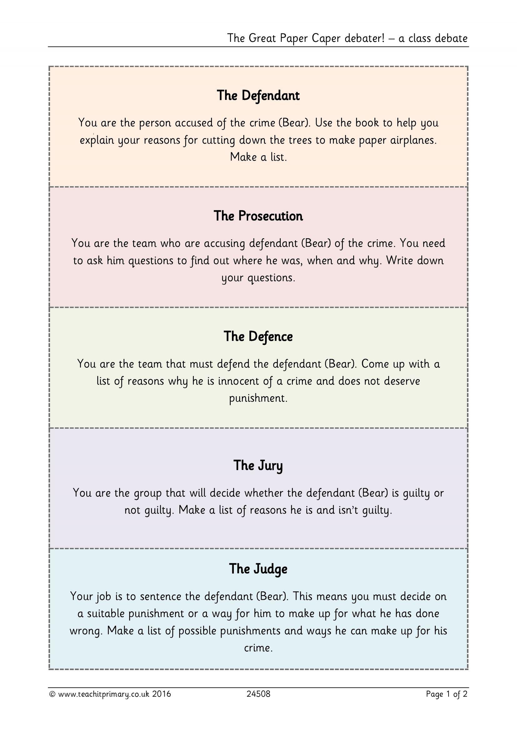 great paper caper worksheet