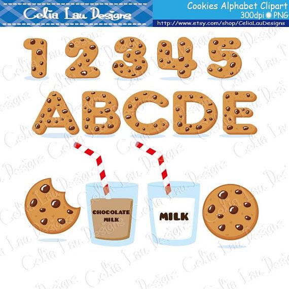 Cookies Font Digital Clip Art Cookies Alphabet And Number Etsy In 2021 Font Digital Digital Clip Art Set Spongebob Birthday Party