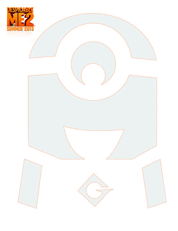 Despicable Me 2- Free Pumpkin Carving Templates Stencil - halloween template