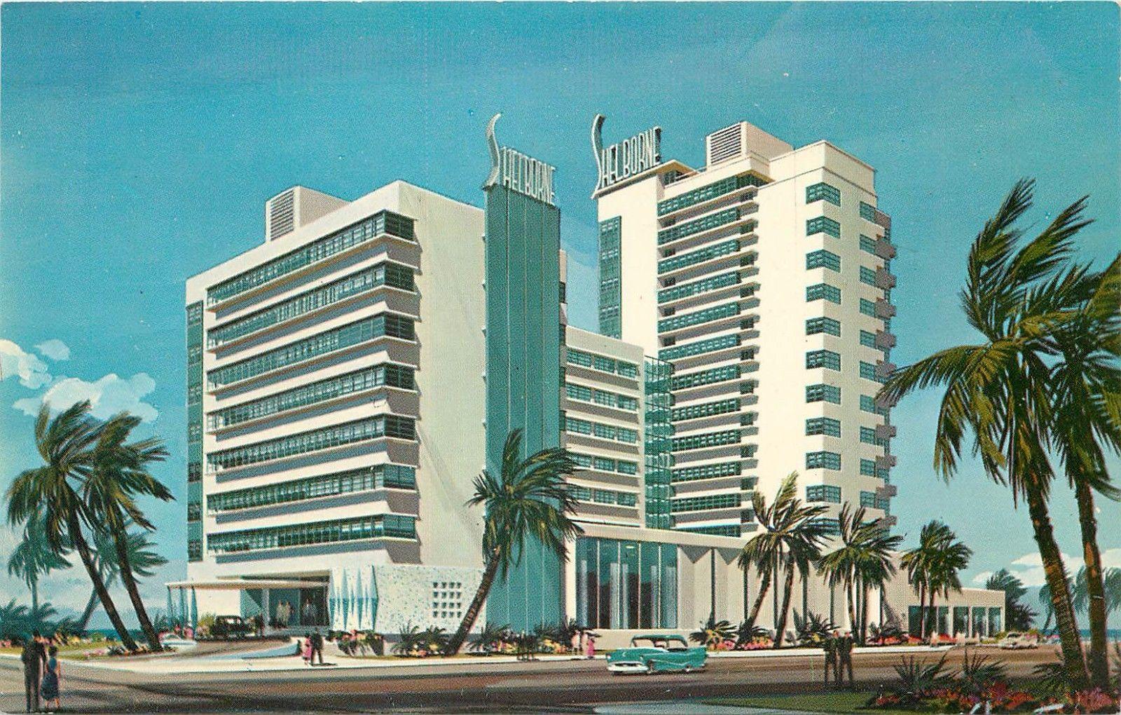 Shelbourne Hotel Cabana Club Miami Beach Florida old cars