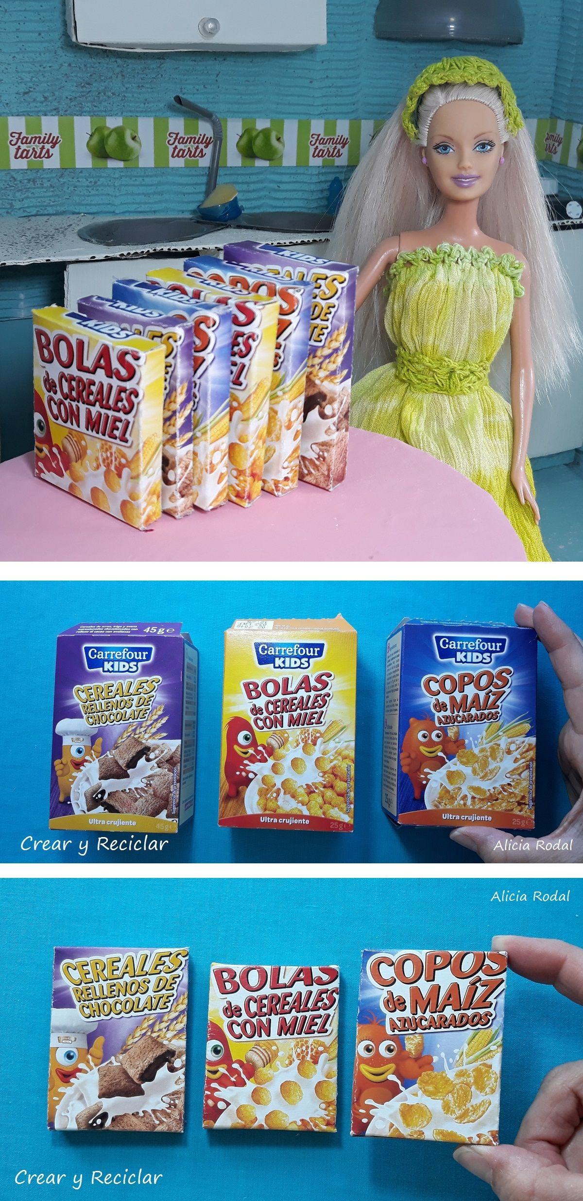 Mini Cereales Para Muñecas Comida Miniaturas Manualidades Infantiles