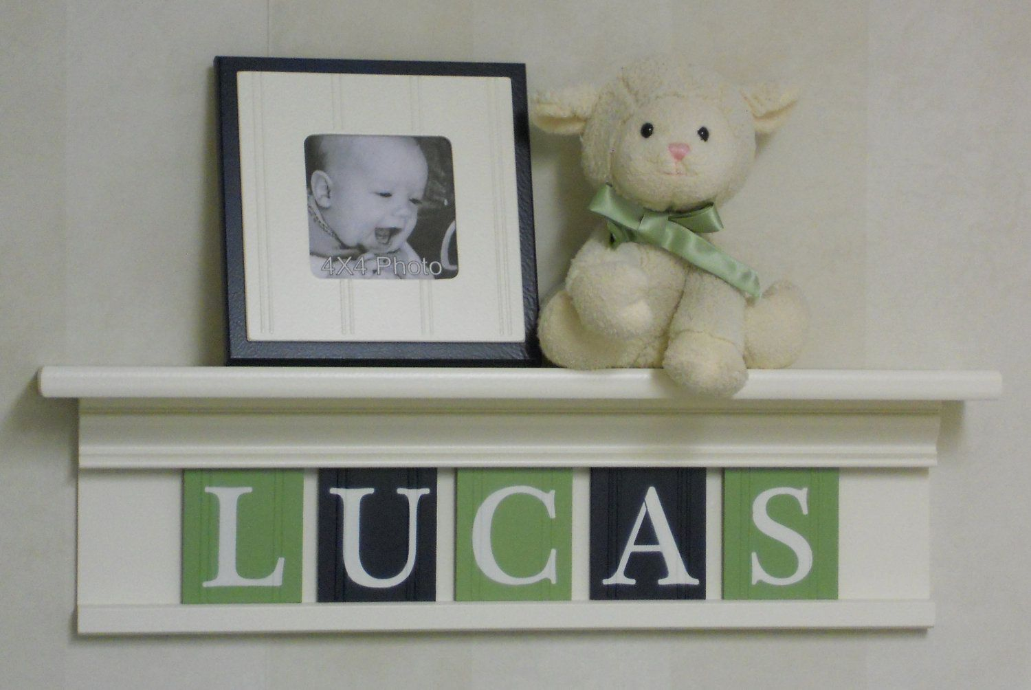 Wooden Letters Boy Nursery Decor Names In Wood Lucas On 24 Linen White Shelf With