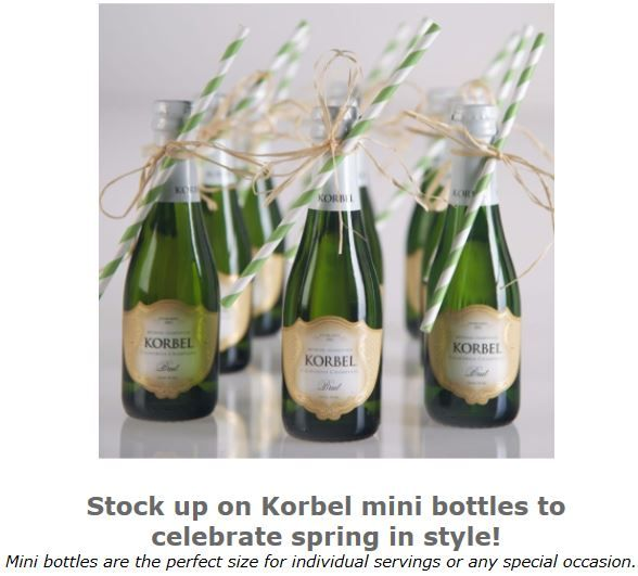 Korbel Minis 50 Off Ship 2 Or More Cases Korbel