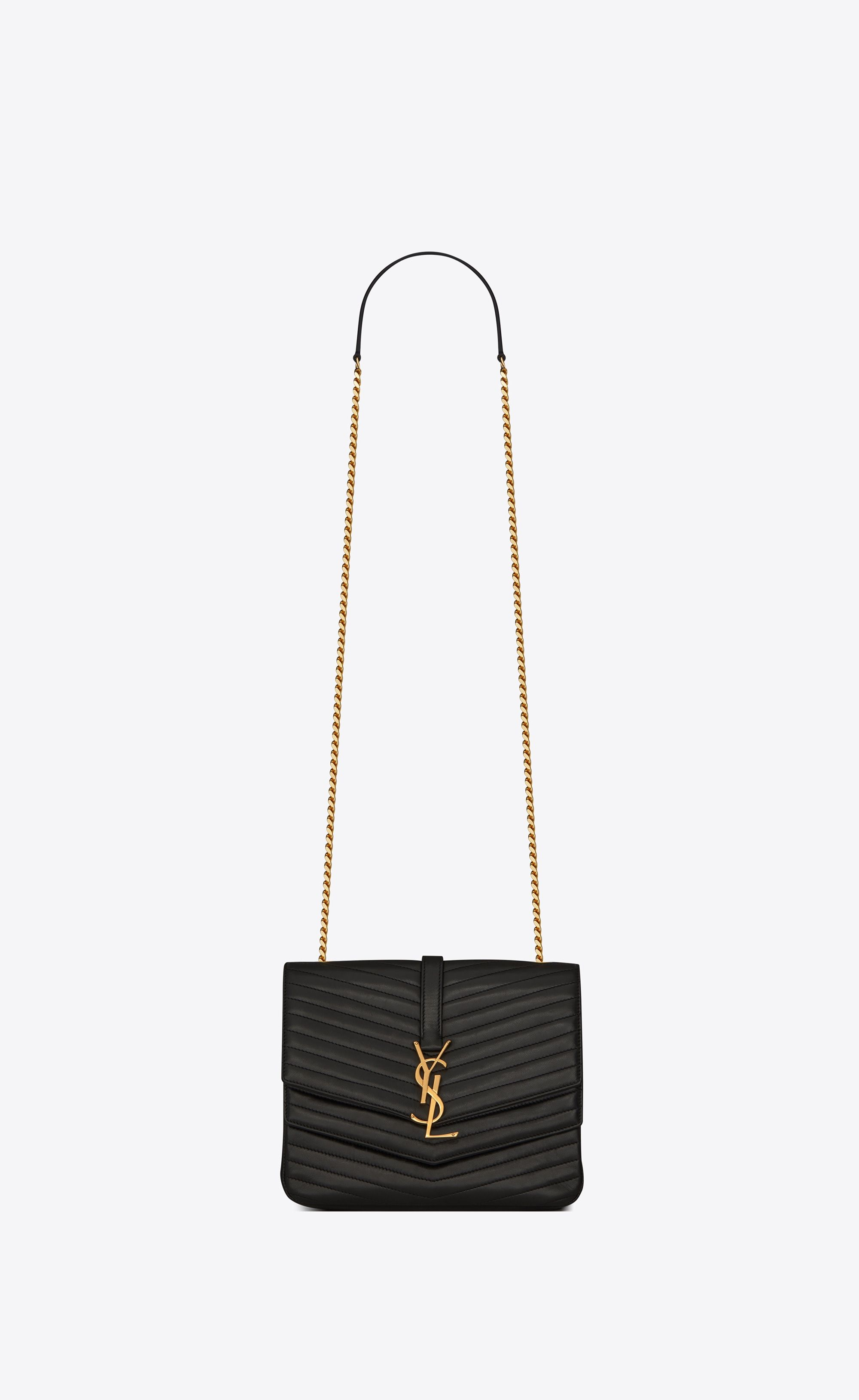 c167cc787d7a Saint Laurent Medium Soft Sulpice Chain Bag In Quilted Black Leather ...