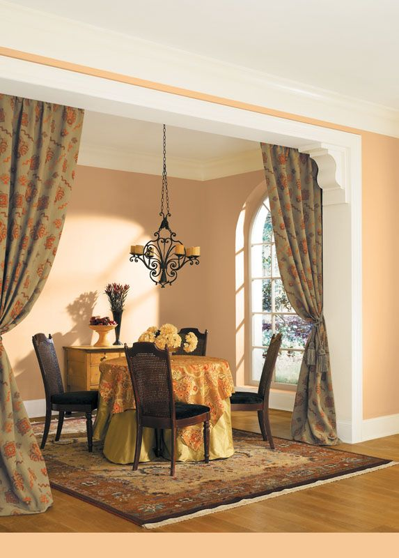 Sherwin williams gold vessel sw 7677 paint colors for for Best colors for formal dining room