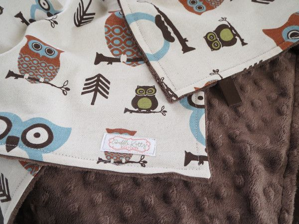 Baby Boy Is Sure To Snuggle With This Owl Baby Blanket For Years To Come Super Stylish And Modern Brown Minky Blanket With Owl And Arrows Is A Great