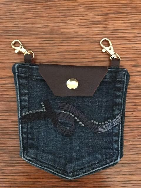 Denim Pocket Belt Loop Purse
