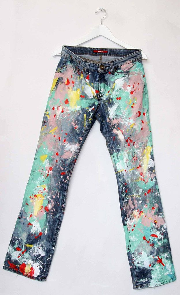 fcebf43dcadc Hand-Painted Jeans   Crafty crafts   Painted jeans, Jeans, Denim
